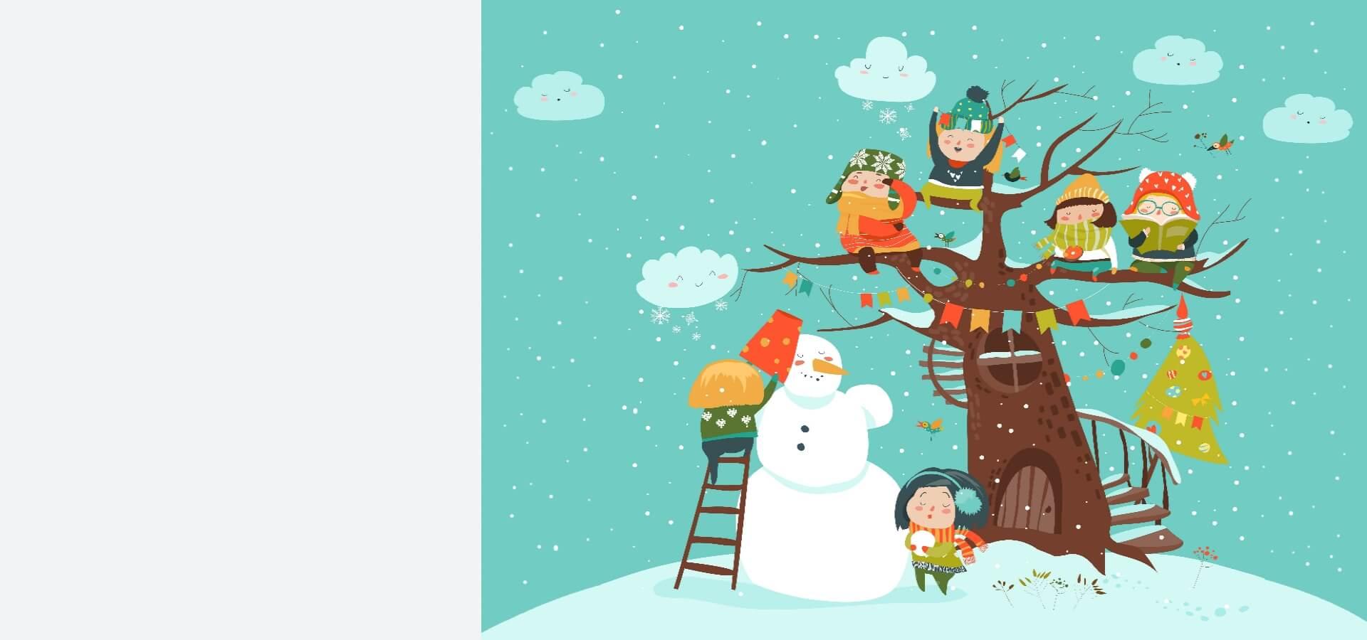 žiema vaikų darželis vaiko medis besmegenis