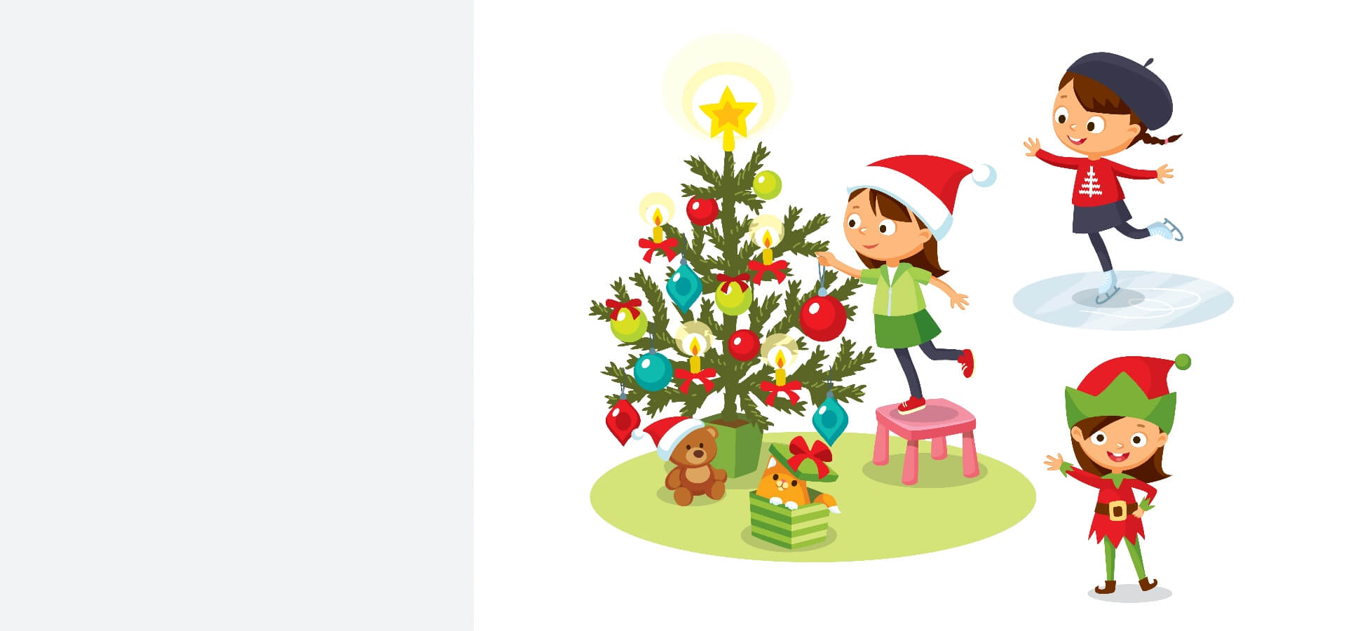 vaikai eglutė žiema kalėdos darželis